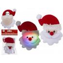 mayorista Regalos y papeleria: Tela de Santa Claus Button Blinkie con LED