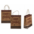 mayorista Regalos y papeleria: Bolsa de regalo Kraft, Feliz Navidad