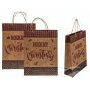 Kraft ajándék táska, boldog karácsonyt