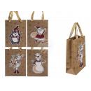 mayorista Regalos y papeleria: Bolsa de regalo Kraft, motivos navideños en 3D
