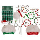 Jewelry accessories, Christmas, 25 times assorted