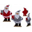 Czuł Świętego Mikołaja na drewnianym stojaku