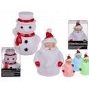 Plastic Kerstman en sneeuwpop met (farbwe