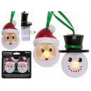 candela di plastica, Babbo Natale e pupazzo di nev