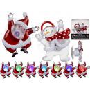 Plastique figure de Noël avec ventouse et farbwec