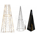 Metal cone with 18 warm white LED, about 40 cm, fo