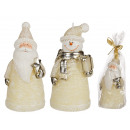 Cream colored candle, Christmas figurine