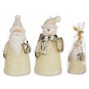 Kremowy świeca, figury świąteczne