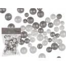 Plastikowe kulki z brokatem