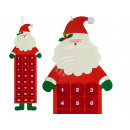 Filz-Adventskalender Weihnachtsmann zum Aufhängen