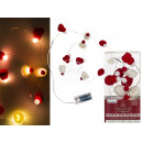 wholesale Light Garlands: Fairy lights, winter cap, with 10 warm white LEDs