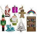 Adornos plásticos del árbol de navidad, navidad