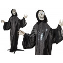 Halloween figure, standing reaper, with light