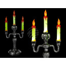 Plastic candle holder with 3 LEDs (incl
