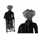 Halloween figure, woman with walker, with light