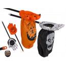 groothandel Speelgoed: Plastic skelet, Halloween, hand met tas