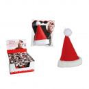 Felt hair clip, Santa hat, approx. 8 cm