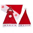 Filz-Weihnachtsmütze, Santa Claus, mit 5 LED