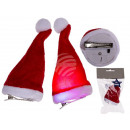 Plush hair clip, Santa hat with LED