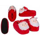 grossiste Chaussures: Chaussons câlins, Père Noël, 3 tailles doubles