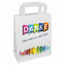 wholesale Business Equipment: Carrying bag white Print: `THANK YOU` about 280 mm