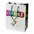 Gift bag black white Print: `THANK YOU`