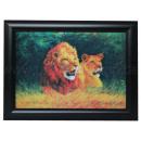 3D Bild Löwe & Löwin ca. 25 x 35 cm