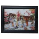 3D Bild Zwei Tiger ca. 25 x 35 cm