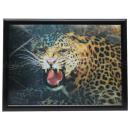 3D Bild Leopard ca. 40 x 60 cm
