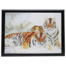 3D image Two tigers approx. 50 x 70 cm