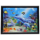 3D picture Dolphins about 50 x 70 cm