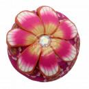 Chunk Button Blume rosa gelb