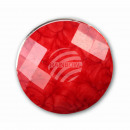 Chunk button facet cut red