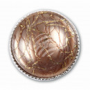 Chunk button relief bronze