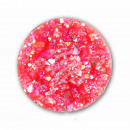 Chunk button Glittering neon red