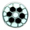 Chunk Button Fussball schwarz weiss