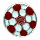 Chunk Button Fussball rot weiss