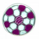 Chunk Button Fussball lila weiss