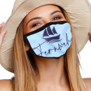 Mouthguard respiratory protection mask with motif