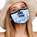 Munskyddsmask med andningsskydd med motivfartyg