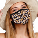 Mouthguard breathing mask with brown leopard motif