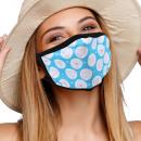 Mouthguard respirator with motif dots heart
