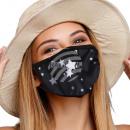 Mundschutz Atemschutzmaske mit Motiv Sterne