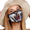 Mouthguard respirator mask with motif tiger mouth