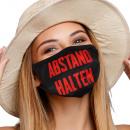 Großhandel Drogerie & Kosmetik: Mundschutz Atemschutzmaske mit Motiv Abstand