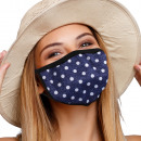 Mouthguard respirator with jeans motif