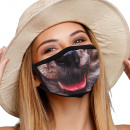 Mouthguard respirator with dog mouth motif