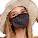 Mouthguard breathing mask with motif tartan patter