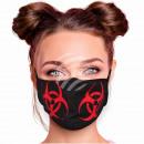 Máscara de motivo ajustable símbolo de riesgo biol