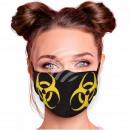 Adjustable motif mask black biohazard symbol